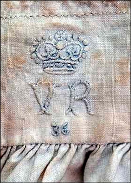 The Monogram On A Pair Of Queen Victoria Rsquo S Drawers Each Of