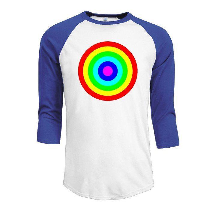 XJcool Rainbow Circle Target Men's Comfort Raglan T Shirt