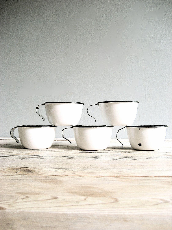 Vintage Enamel Mugs For The Home Pinterest Enamelware Claris Glases Ware 12 Pcs Seri D 4900 Via Etsy