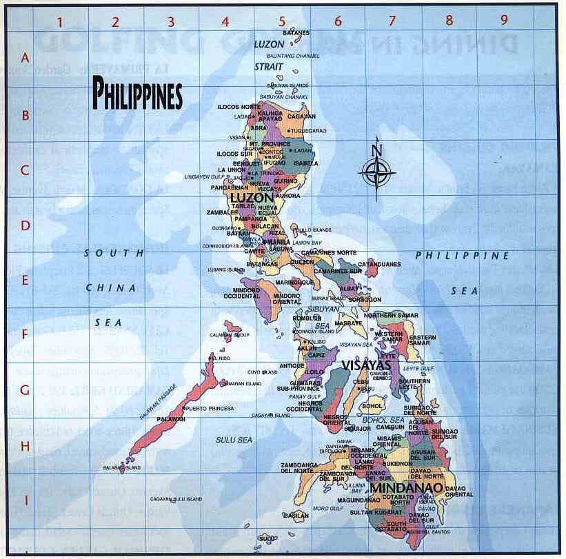 philippines  Philippines A general map of the Philippine Islands
