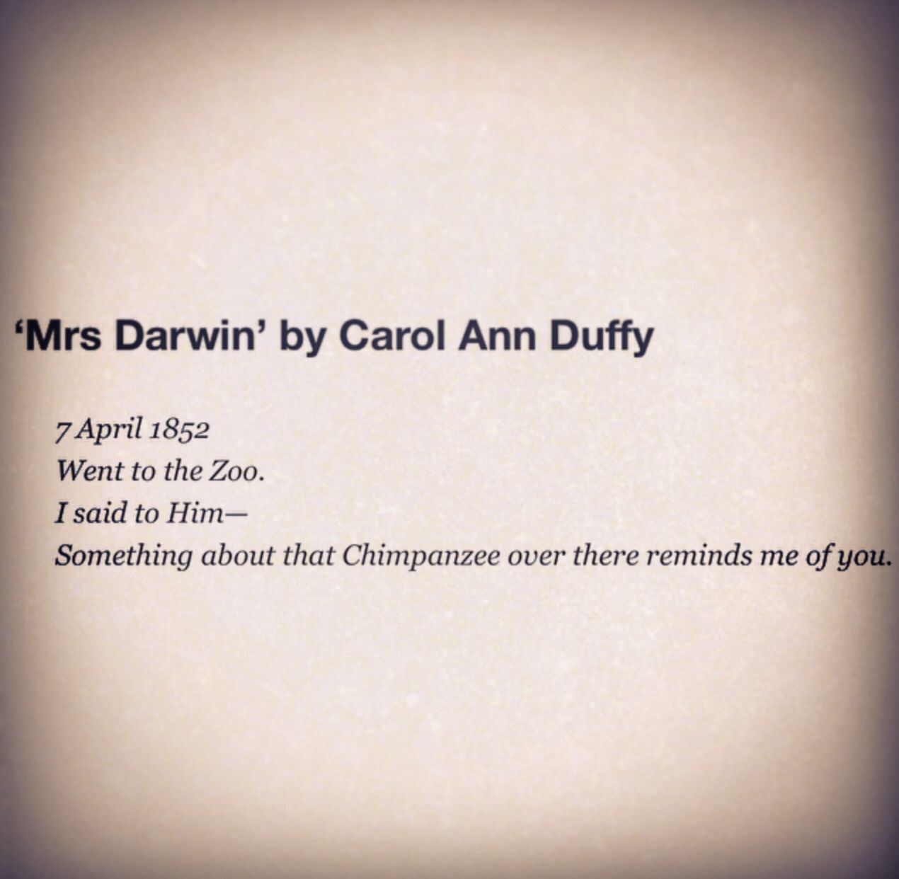 originally by carol ann duffy Originally by carol ann duffy has a continual theme of cultural identity, focusing on duffy s roots and the significant childhood memory of the move her.