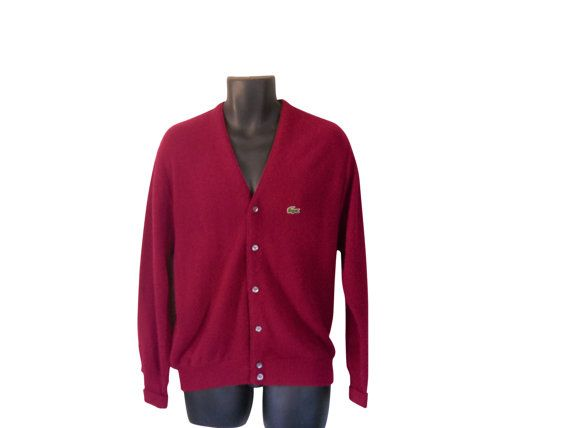 Izod Lacoste Sweater Izod Cardigan Lacoste by SecondhandObsession ...