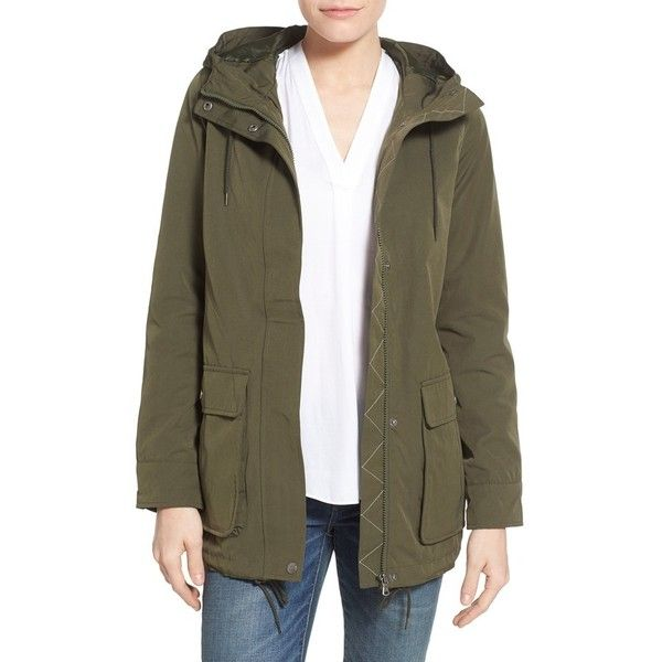 Levi's Hooded Swing Jacket ($100) ❤ liked on Polyvore featuring ...