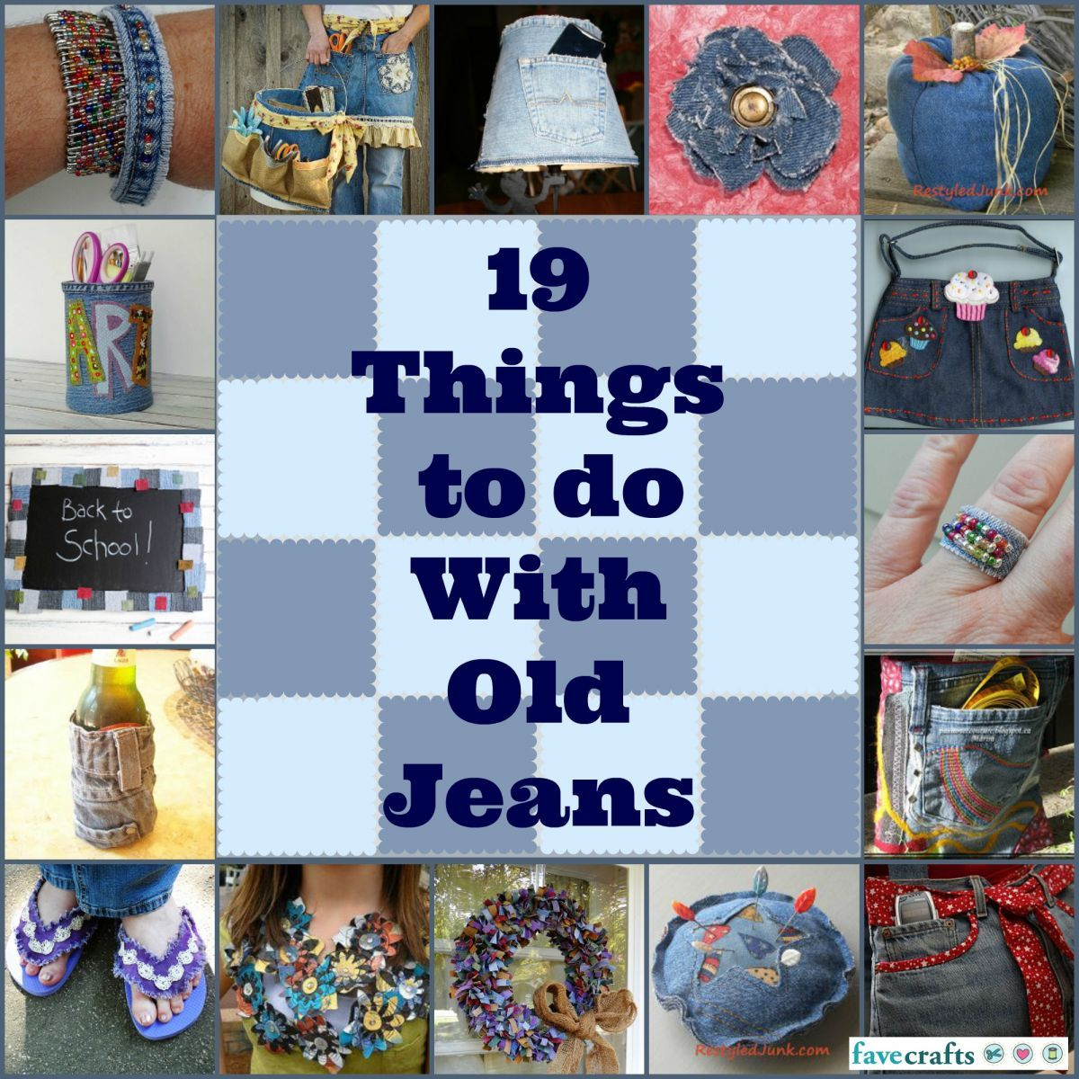 What To Do With Old Jeans: 34 Recycled Crafts With Denim | Knitting ...