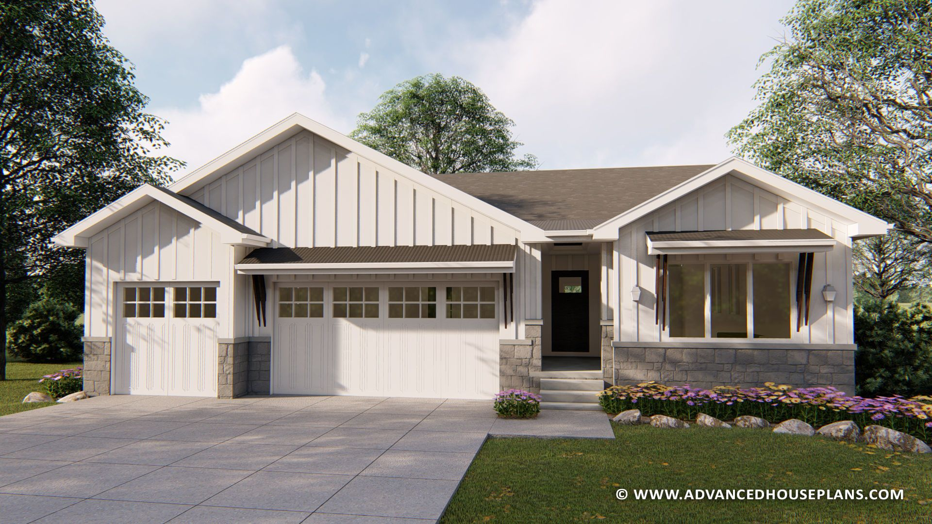 1 story modern farmhouse plan charlotte rose