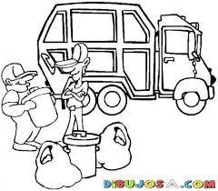 Resultado de imagen para camion de basura para colorear
