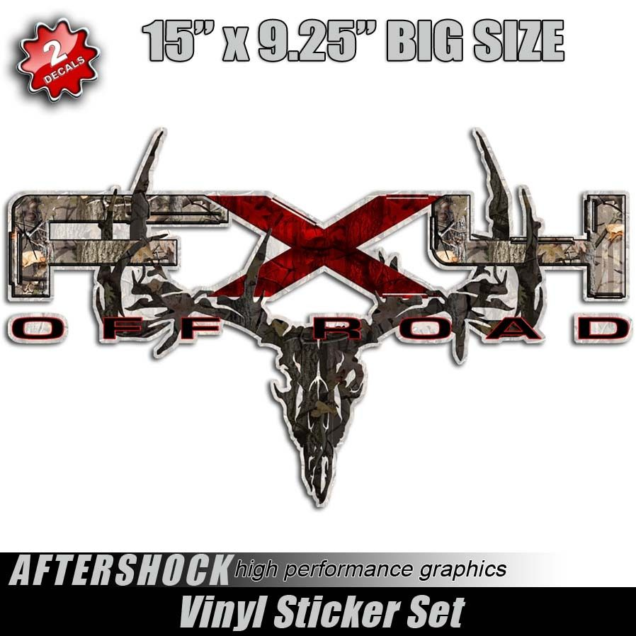 Fx4 deer skull hunting ford stickers