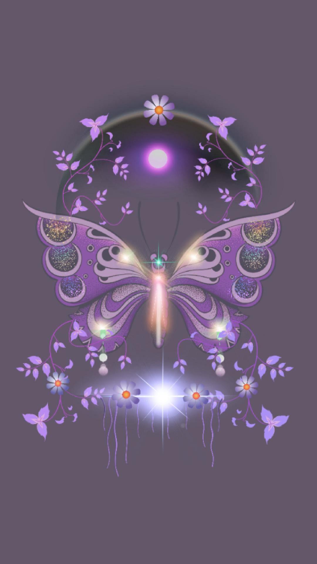 Pin by Gralyne Watkins on *Wallpaper - Purple | Butterfly ...