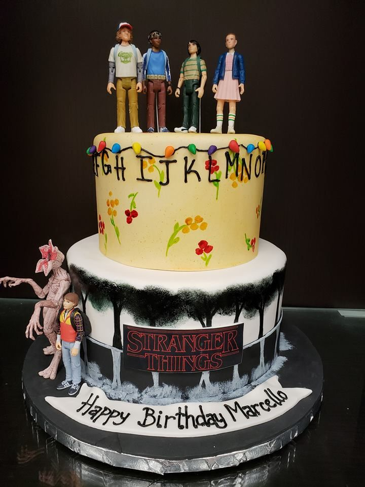 Stranger Things Birthday Cake In 2019 12th Birthday Cake