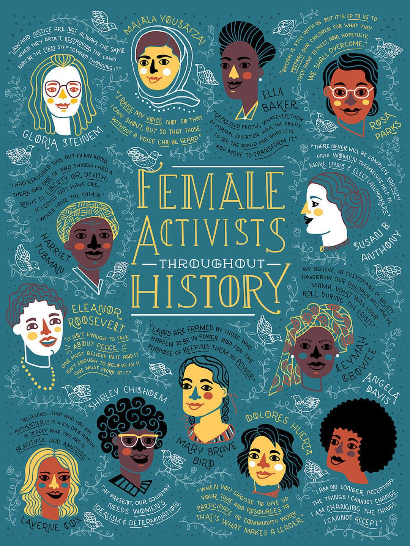 Female Activists History Illustrated Rachel Ignotofsky Illustration Art