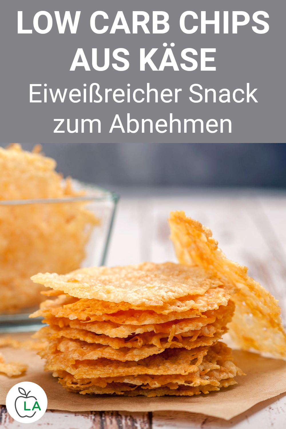 Low Carb Käse Chips - Snack ohne Kohlenhydrate