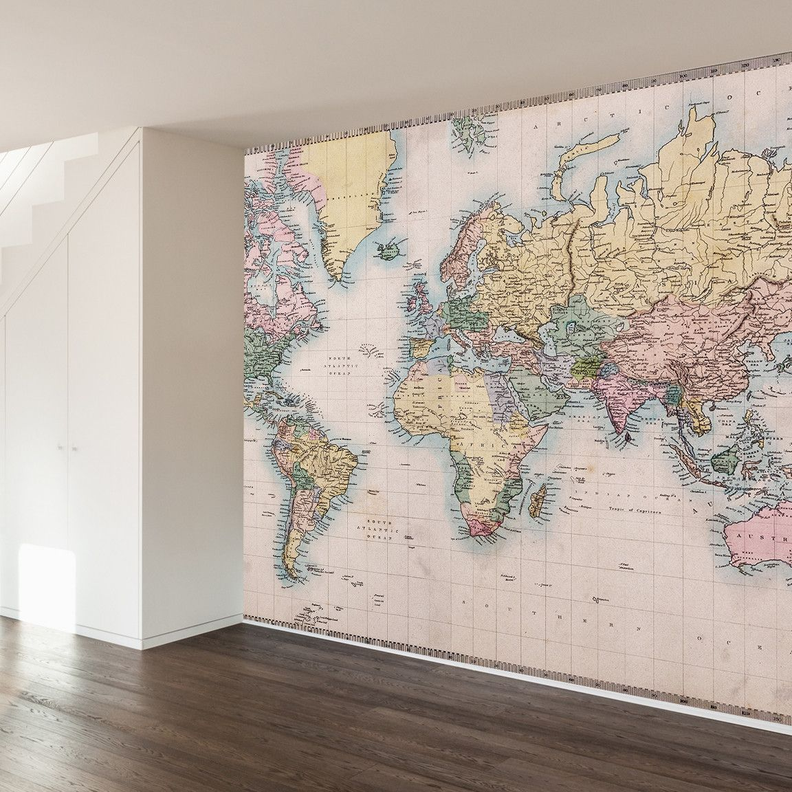 Map Wall Mural fashionable world map wall mural for any room throughout your home