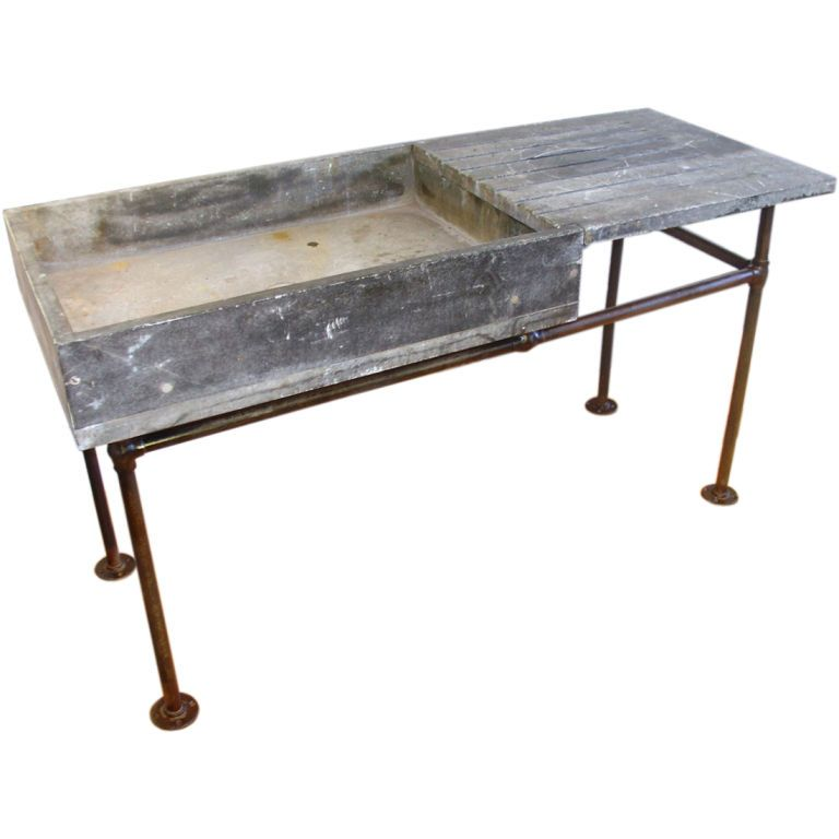 Outdoor Wet Bar: Industrial Soapstone Sink Similar For Butler's Pantry