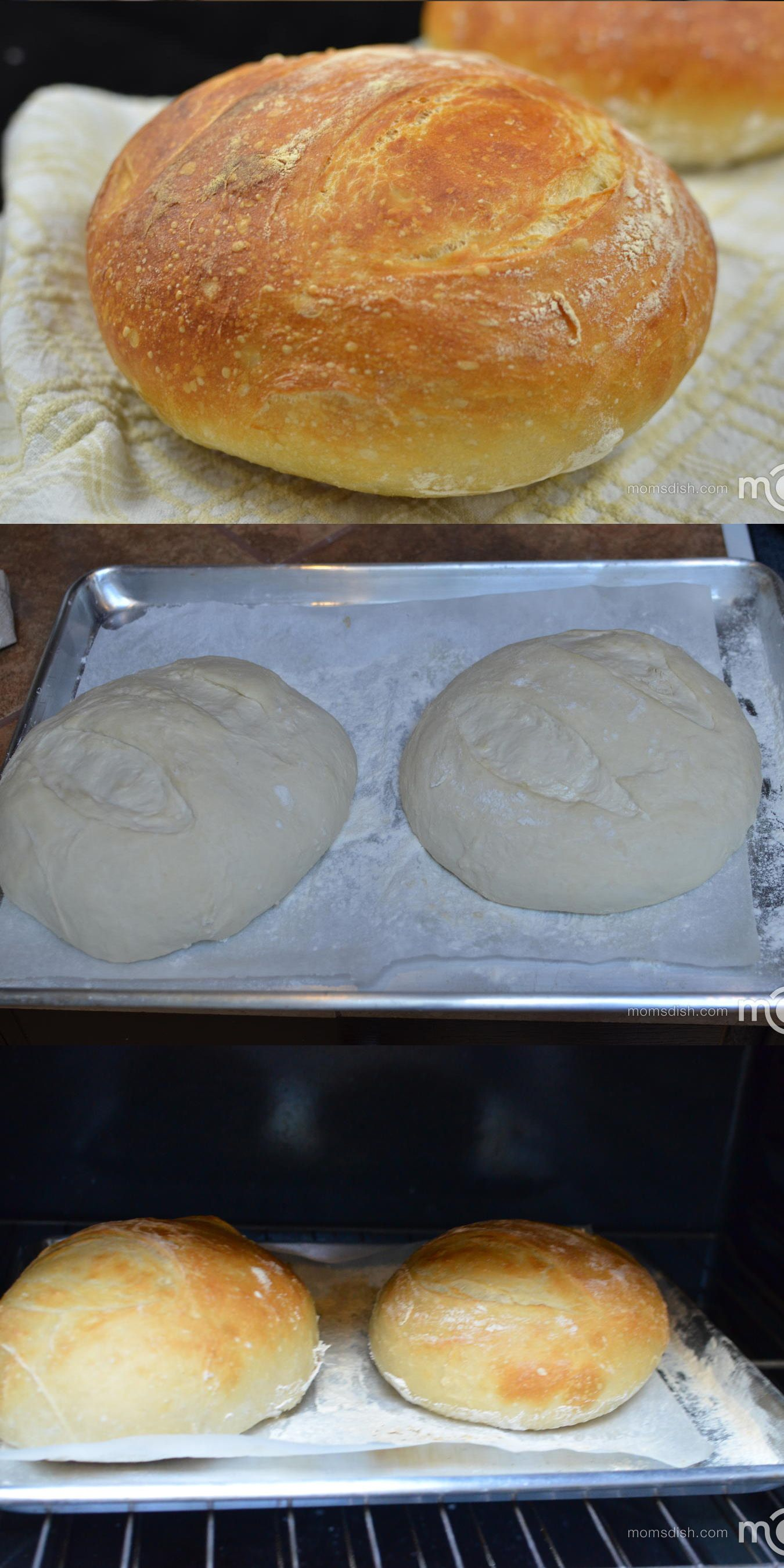 No Knead Bread Recipe Places 2 Cups Of Water In During Baking To