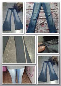 Como transformar un pantalón campana a pitillo