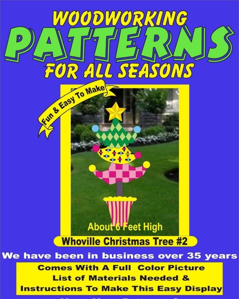 whoville christmas tree set # 2 woodworking pattern,plan