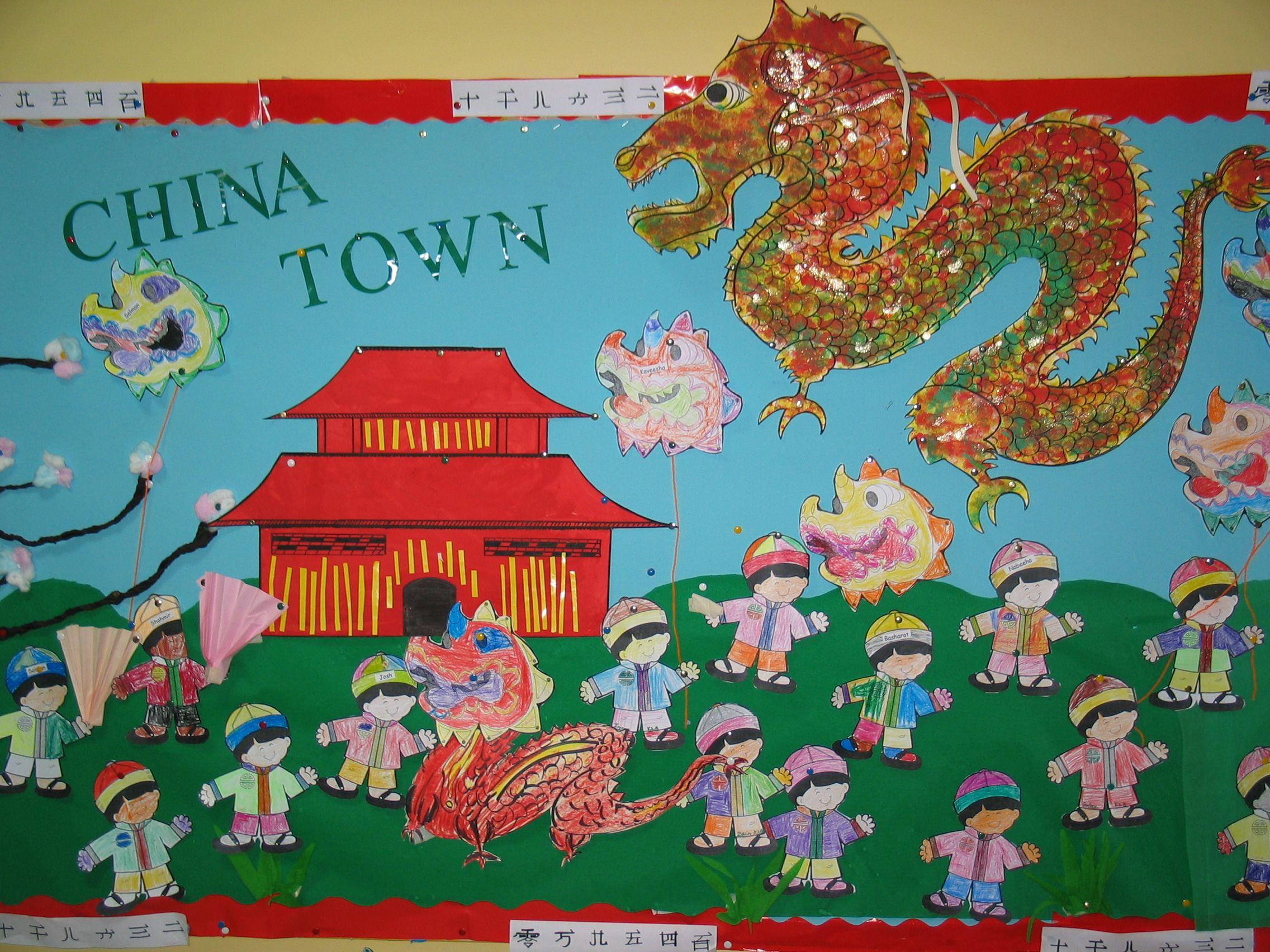 China Town Bulletin Board | China crafts, Chinese new year ...