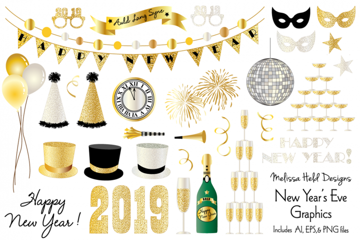 new years eve 2019 graphics by melissa held designs this is a collection of 32 new