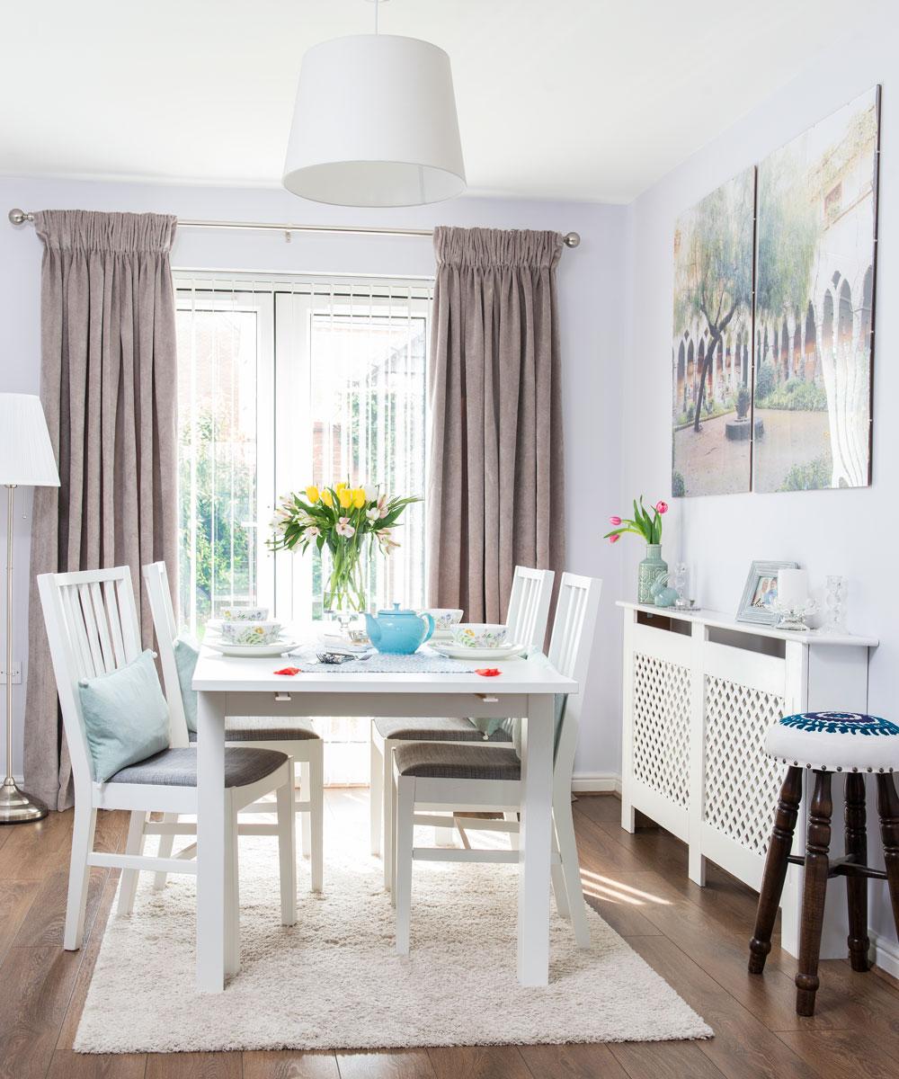 Dining room curtain ideas - on-trend and elegant looks for ... on Farmhouse Dining Room Curtain Ideas  id=95544