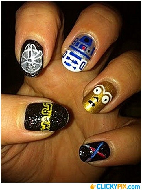 Star Wars Nail Art - Star Wars Nail Art Art Pinterest Star Wars Nails, Star And