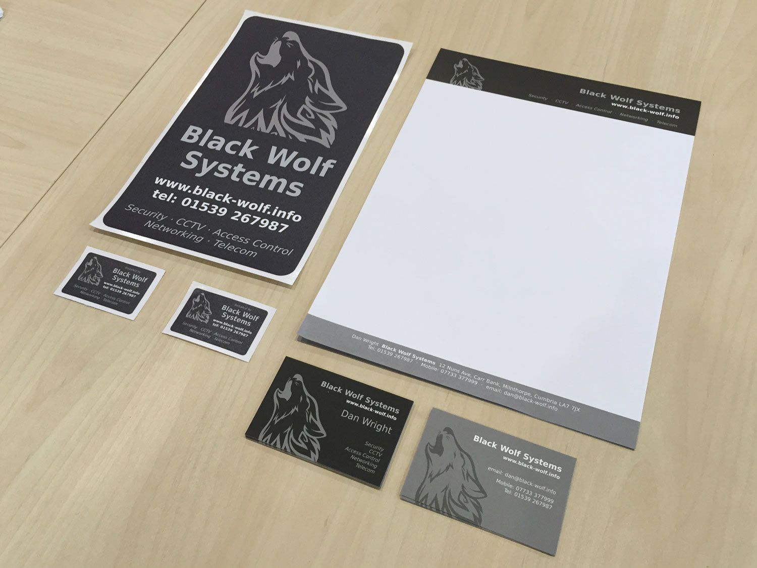 Letterheads, business cards and self adhesive outdoor labels ...