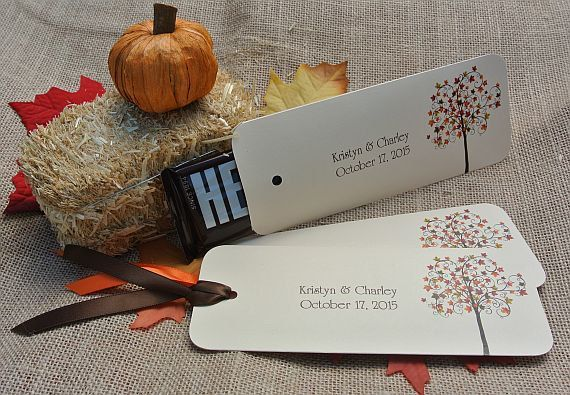 Fall Wedding Orange Favors Candy Bar Wrers