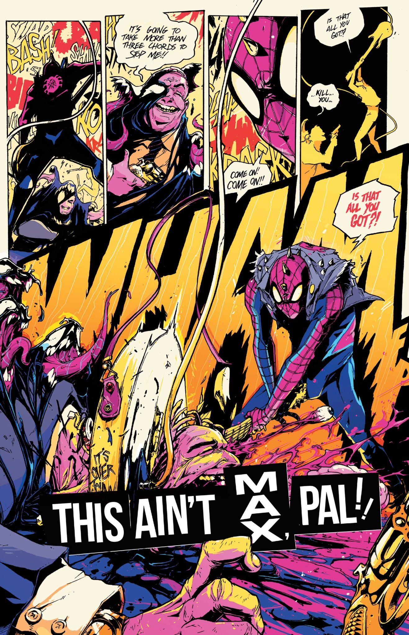 The birth of Spider-Punk from Spider-Verse #2