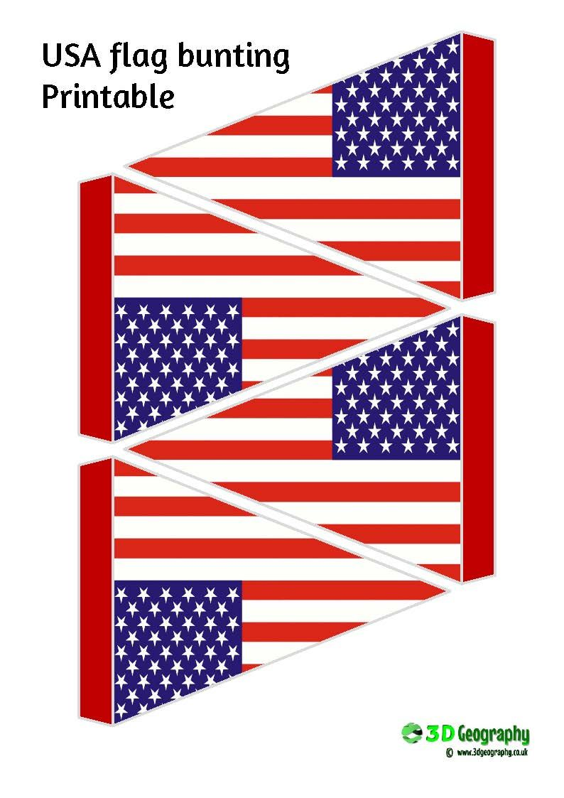image about Printable Usa Flag known as Printable flag bunting united states of america flag Flag, Flags of the planet