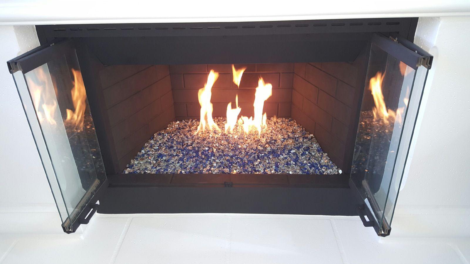 Quarter Inch Reflective Fireglass Fire Glass Fireplace Glass