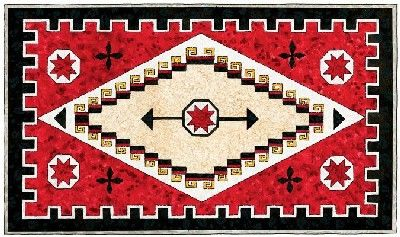 Navajo Rug Quilted Wall Hanging Pattern | Quilted wall hangings ...
