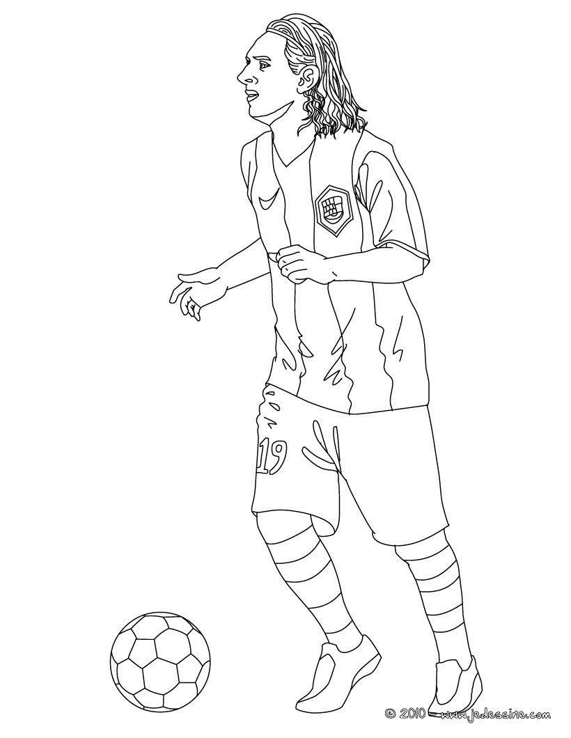 Coloriage Du Joueur De Foot Lionel Messi A Imprimer Gratuitement