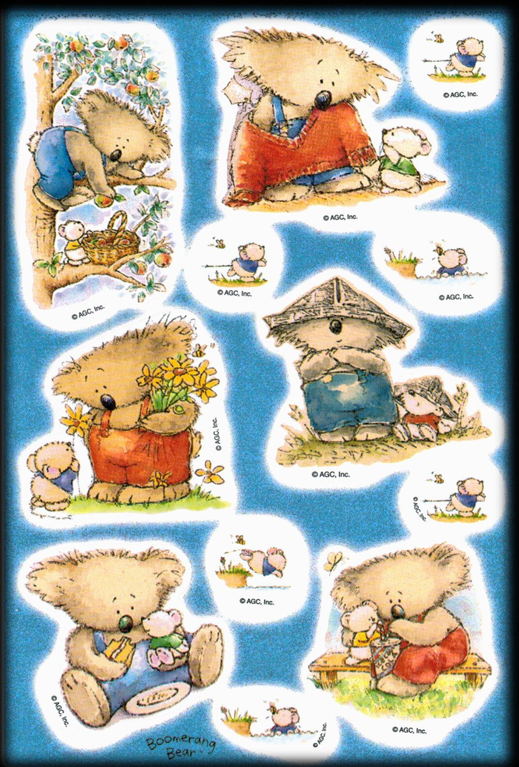 Vintage agc boomerang bear friendship spring stickers koala hallmark explore american greetings stickers and more kristyandbryce Choice Image