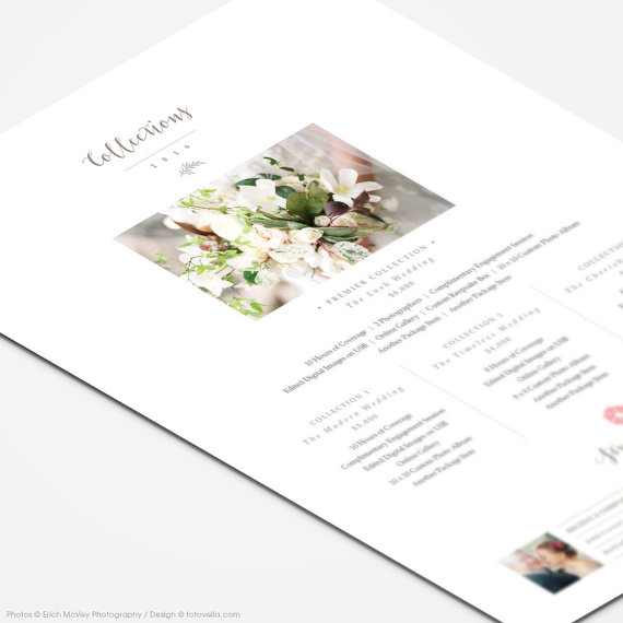 Photography Price List Template Wedding Collections by FOTOVELLA - price list template