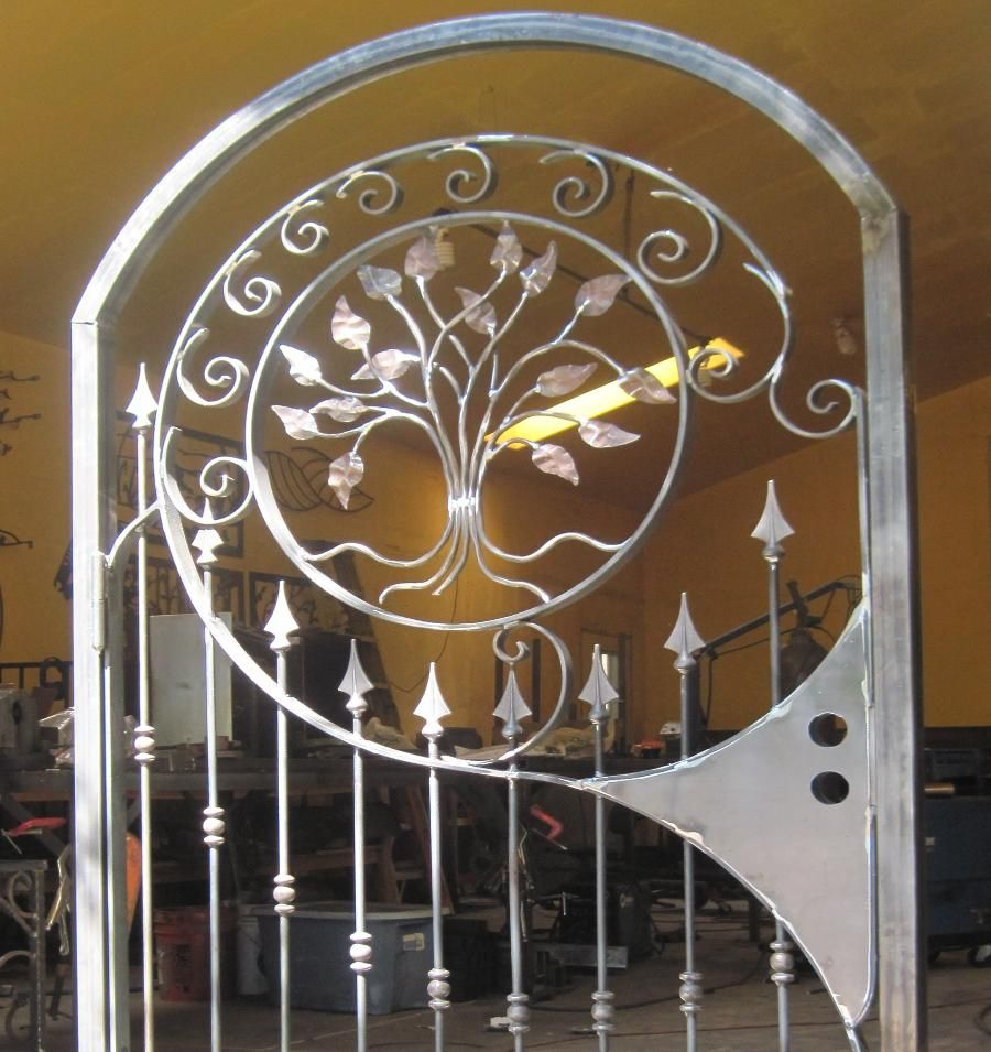 IronByChad.com Custom Wrought Iron Railings, Steel Gazebos, Driveway Gates,  Metal Stairs