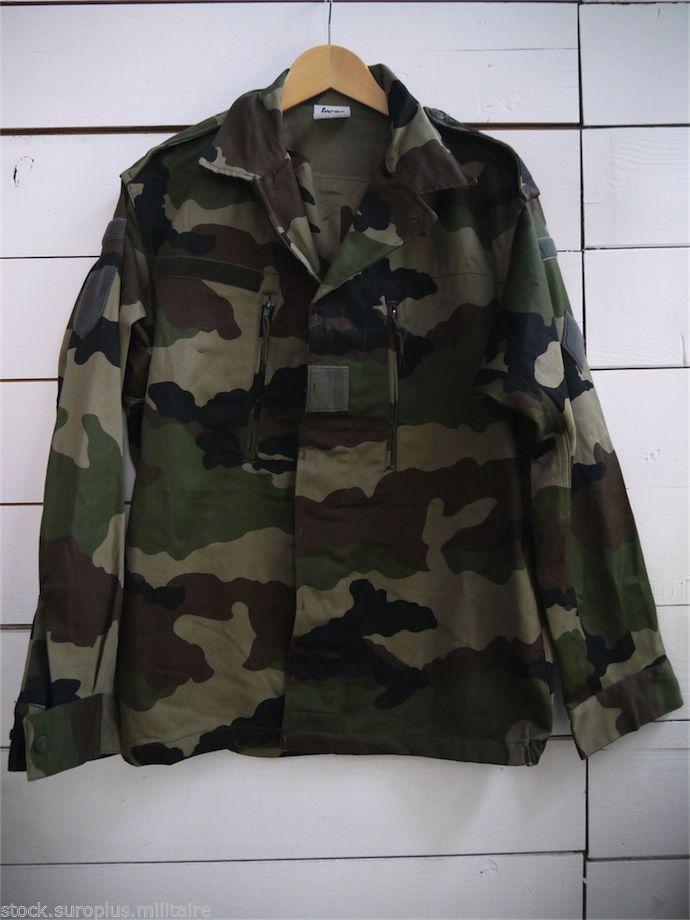 Armée Militaire De L Treillis Surplus Francaise France Veste qXwSp84S