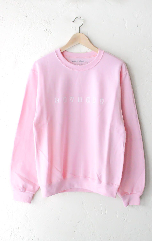 d2af810b5c6a Description Details   Crybaby  oversized sweater in pink. Brand ...