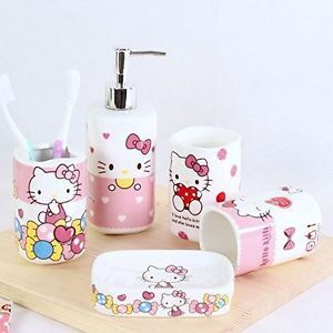 Hello Kitty Bathroom Set | Pin By Quenchome On Bathroom Pinterest Bathroom Accessories