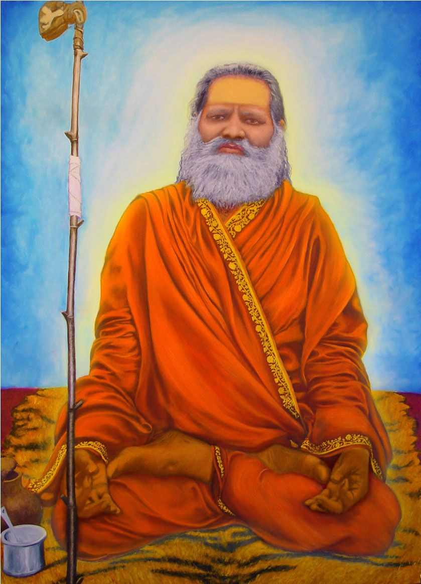 guru dev oil painting by christopher kufner sitting posture