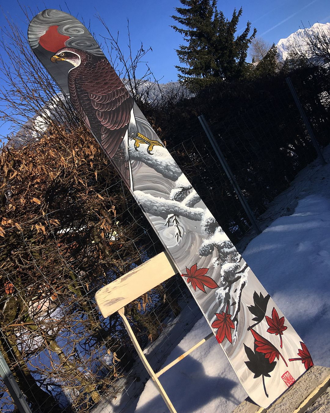 Acrilic On Snowboards. Good Times With @leosalzburg #art