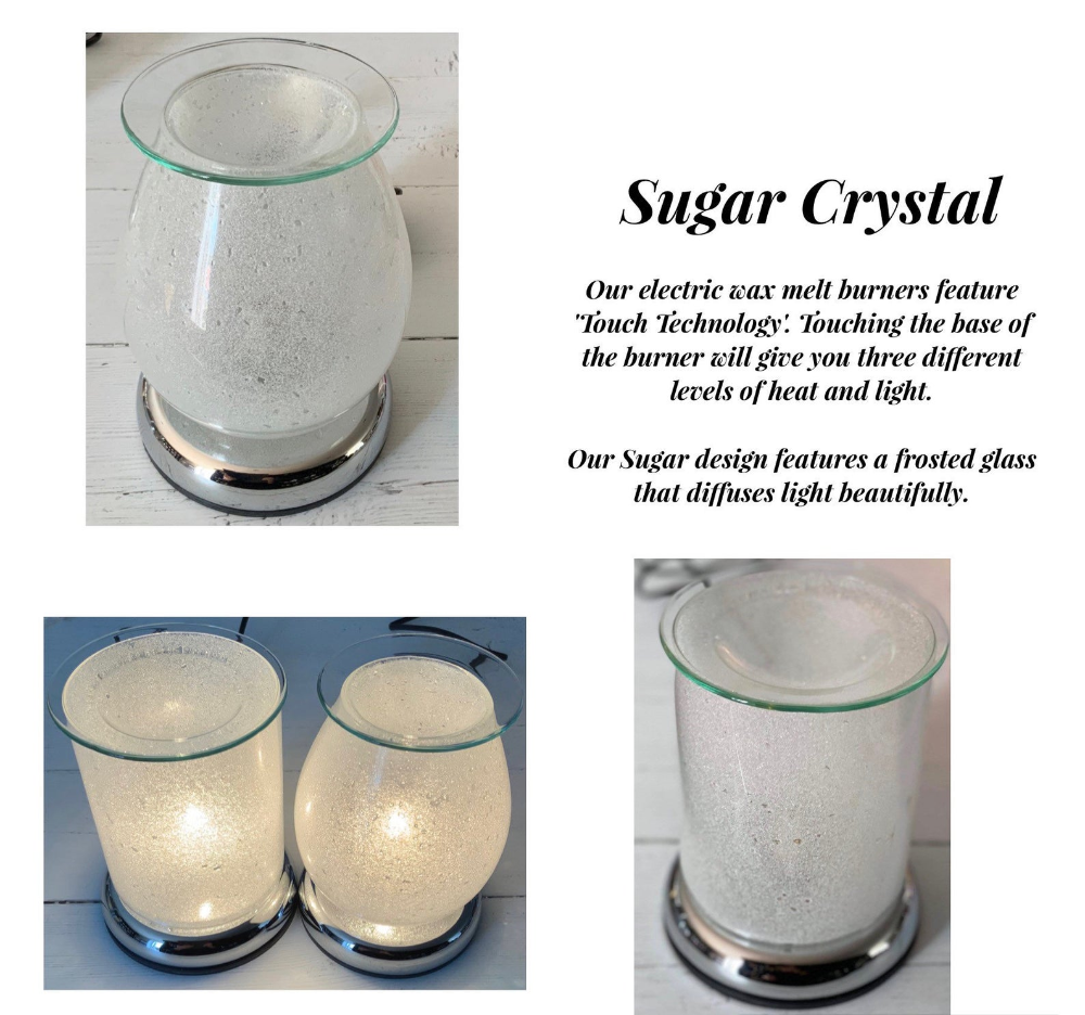 Sugar Crystal Oval Electric Touch Lamp Wax Burner Etsy In 2020 Touch Lamp Sugar Crystals Electric Wax Melt Burner