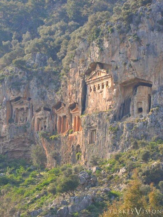 Kaunos Tombs in Dalyan, Turkey (4th - 2nd century BC)