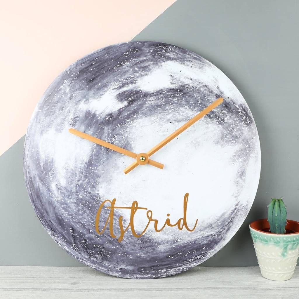 Personalised Moon Wall Clock Wall Clocks Clocks And Moon