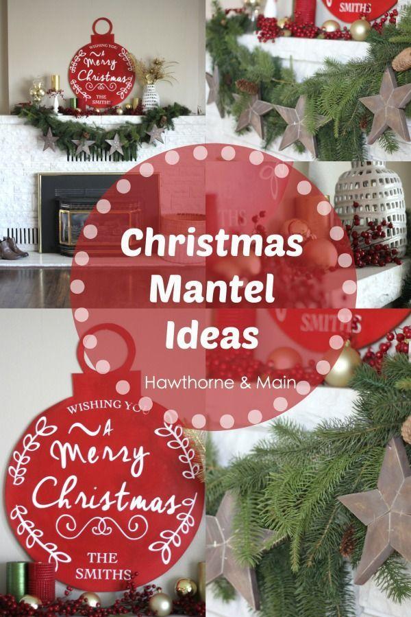 Beautiful decor for a Christmas mantel I