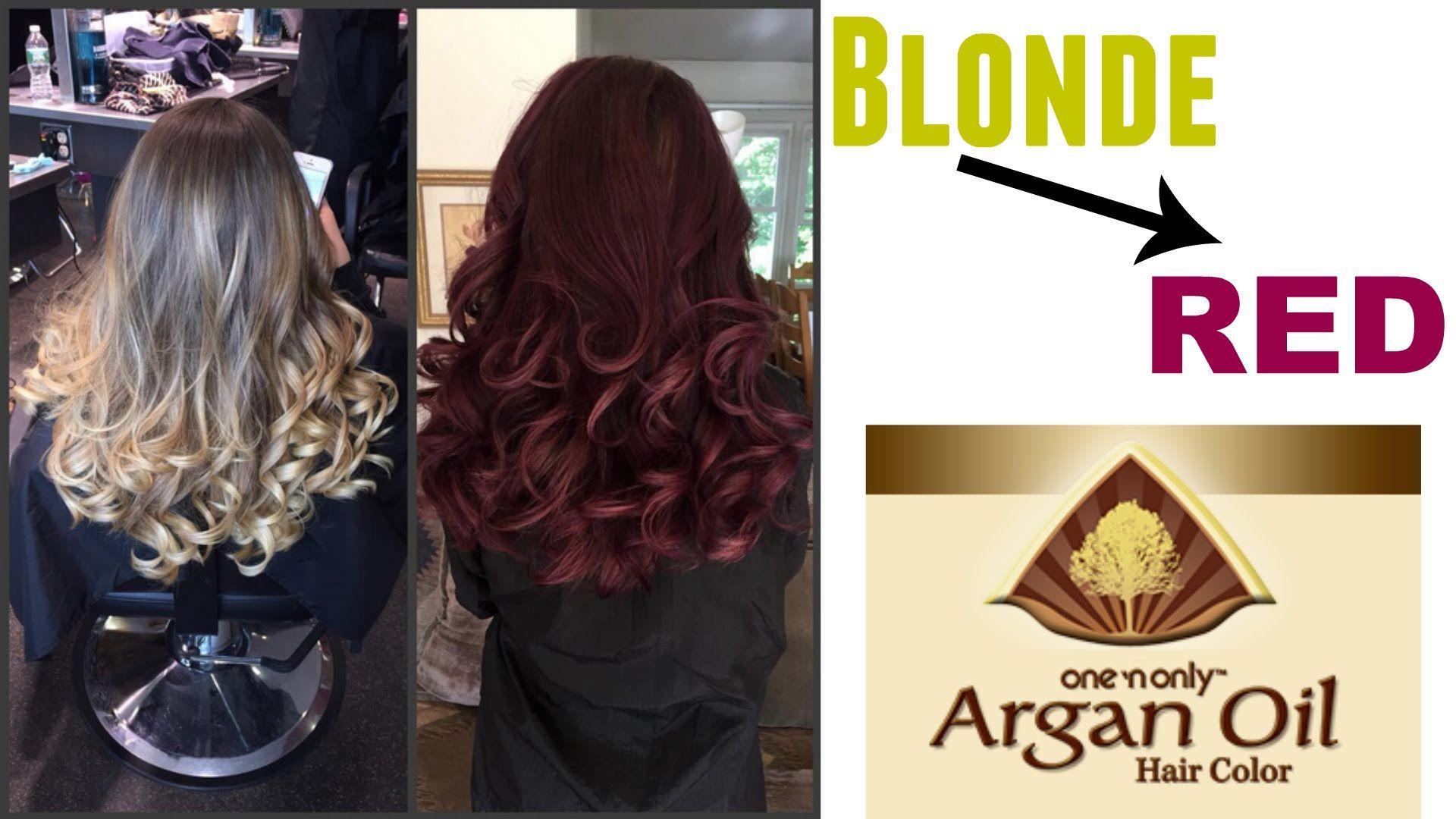 Blonde Dark Red Violet Brown 3rv One N Only Argan Oil Hair Color Argan Oil Hair Color Hair Inspiration Color Argan Oil Hair