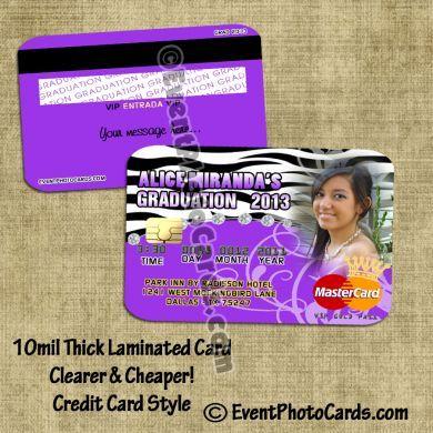 graduation announcement invitations that look like credit cards graduation zebra credit card invitations credit - Unique Graduation Invitations