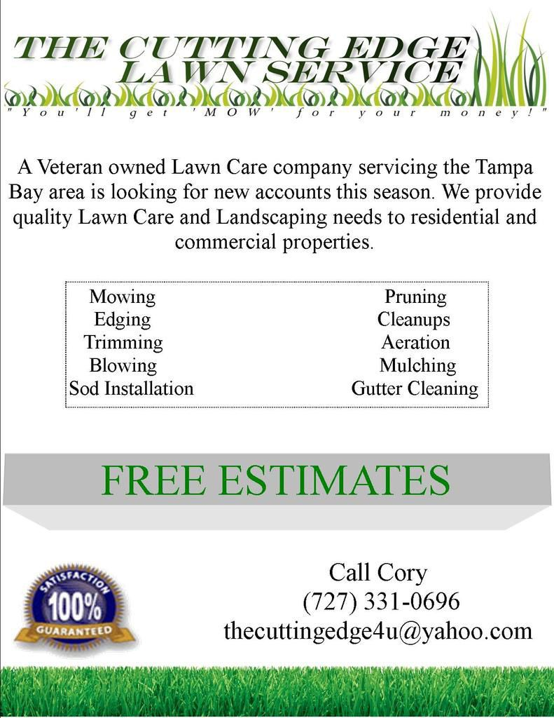 Lawn Care Flyer Free Template Lawn Care Business Marketing