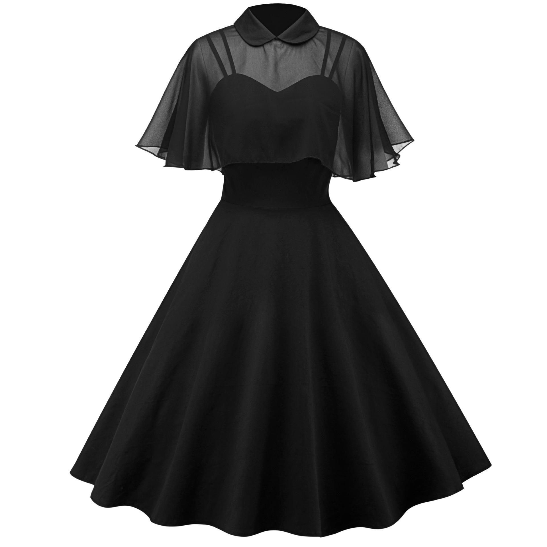 4 Colors Elegant Party Cape Dress SP13238 #vintage