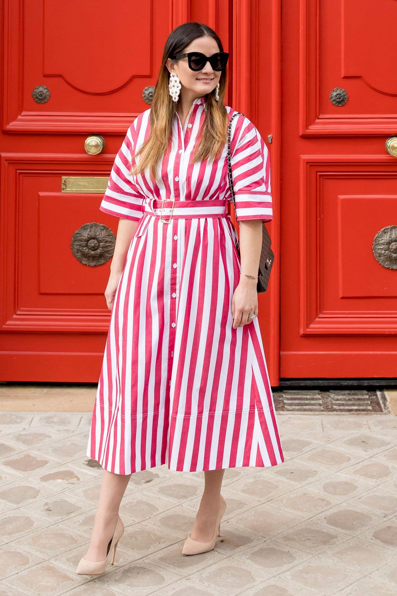 907b7cde90e Rachel Antonoff Red Stripe Dress at Red Doors in Paris