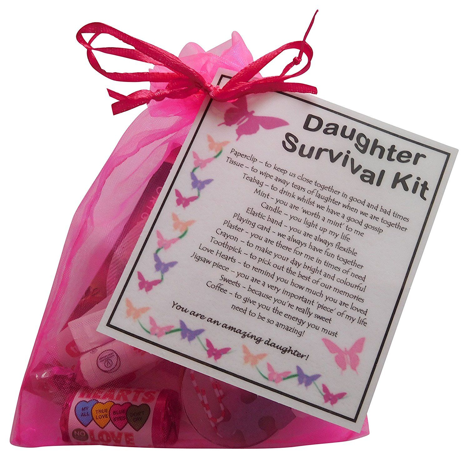 Daughter Survival Kit Gift (Great present for Birthday