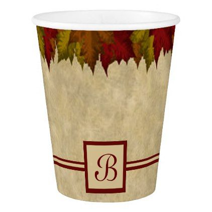 A Maple Leaf Border Paper Cup - border paper template